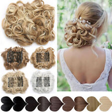 S Sale Lady Comb Clip In Curly Hair Piece Chignon Updo Hair Extension Hair Bun