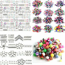 Wholesale Bulk lots Eyebrow Jewelry Belly Body Piercing Tongue Bar Ring 105pcs