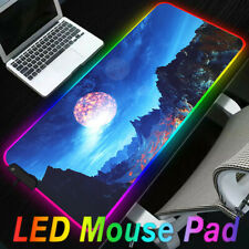 ❤ Extended Colorful LED Lighting RGB Gaming Mouse Pad Keyboard Mat for PC Laptop
