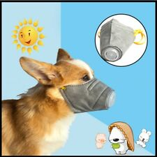 Mask Anti Smoke Face Cover 3pcs Dog Mouth Fog Pollution Breathable Muzzle Pet