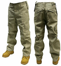 BEIGE CREAM CARGO COMBAT TROUSERS PANTS 30 32 34 36 38 40 42 44 46 48 50