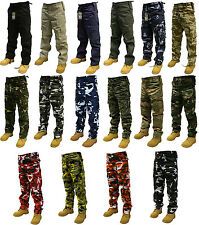 "ARMY CARGO CAMO COMBAT MILITARY TROUSERS/PANTS 30""-50"" WAIST 32"" & 30"" LEG"
