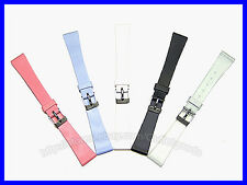 12mm 14mm Ladies Smooth Rubber Watch Band Strap
