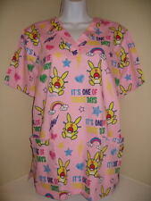 NWT HAPPY BUNNY SCRUBS  its one of those days size S M or L