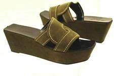 Robert Clergerie Paris Gourou Olive Suede Sandals 7.0  - 70% off- Free Shipping