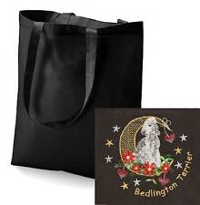 Bedlington Terrier Tote Bag Embroidered by Dogmania
