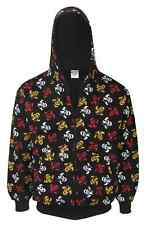 Multi Colour Skull All Over Print Zip hood ROCK PUNK