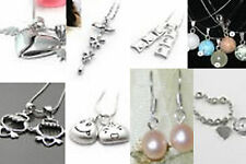 925 Silver His Her Lovers Pendant Set and Others
