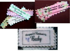Clothing Labels Personalized Designed Made by Garment Name Tags Sew In Fabric