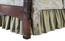 QUEEN Dust Ruffle Gathered Bedskirt Choose color/length