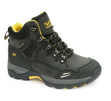 WOOD WORLD WATERPROOF STEEL TOE SAFETY WORK BOOTS Black