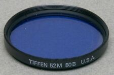 52mm Screw-In Filter TIFFEN WRATTEN 80B BLUE COLOR CONVERSION Made in USA