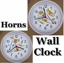 Trombone WALL CLOCK French Horn Trumpet Flute Clarinet Taps Brass Band Wind NEW