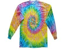 Light Rainbow L/S Tie dye t-shirts Youth S to Adult 3XL