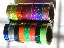 Glittering Sparkle Tape, Choose your Colors and Sizes, Holographic Sequins