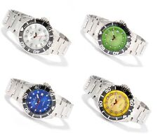 Croton Stainless Steel Bracelet 44mm Dial 20 ATM Date Watch Choice of 4 Colors