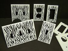 ZEBRA PRINT #1  PLATES  LIGHT SWITCH OR OUTLET COVER