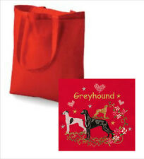 Greyhound Tote Bag Embroidered by Dogmania