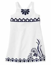 NWT Gymboree CAPE COD CUTIE White Textured Shell Dress - Choose Your Size