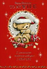 cute for my WIFE christmas love card embossed - multi-listing