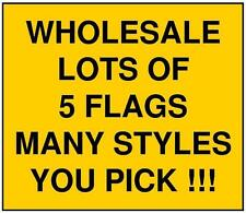 3x5 LARGE LOT OF 5 CHECKERED FLAG WHOLESALE DISCOUNT BANNER OUTDOOR U PICK 3'X5'