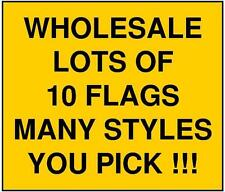 3x5 Large Lot of 10 Checkered Flag Wholesale Discount Banner Outdoor Pick 3'x5'