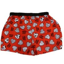 Mens Red Wild Thing Boxers Zebra Sripe Hearts Boxer Shorts Animal Print