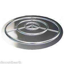 """18"""" 24"""" 30"""" 36"""" Stainless Steel Burner Pan with Burner Ring Fire Pit Fire Glass"""