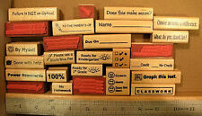 Teacher Phrase Rubber Stamp, wood mounted
