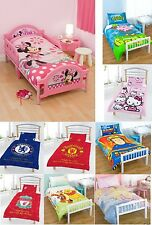 NEW JUNIOR TODDLER COT BED DUVET SET DISNEY KIDS TV CHARACTER & FOOTBALL CLUB