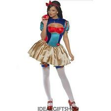 SNOW WHITE FAIRYTALE FANCY DRESS PRINCESS ADULT COSTUME FEVER LADIES SIZE 8 - 18
