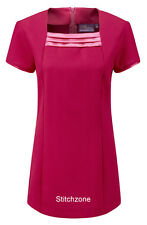 Beauty Tunic Square Neck: 5 Colours Sizes 6 - 30  Hair Nails Beauty Massage