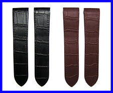 23mm Replacement Leather Watch Band Strap fits Cartier Santos 100 Large 38mm