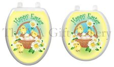 Easter Chicks Toilet Tattoo Decor Decal Cover Bunny Basket Jesus Seat TT-E712