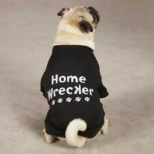 Casual Canine Home Wrecker Dog Puppy Tee Shirt Print Black NEW