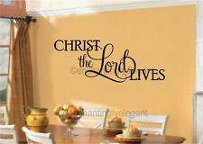 Christ the Lord Lives Vinyl Decal Wall Sticker Easter Christian Words Lettering