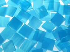 SKY BLUE WISPY handcut stained glass mosaic tiles #160