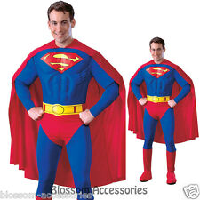 C33 Superman Muscle Chest Hero Men Licensed Fancy Dress Adult Costume