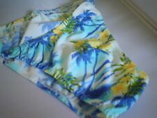 Mens Tropical Print Swimsuit Bikini Rise Brief Rio Half or Thong s M L or xl USA