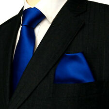 Assorted Colours Plain Smooth Silk Ties with matching Hankies