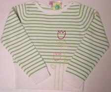 NWT Choose girls 7 or 8 Gymboree TIP TOE TULIPS green stripe pullover sweater