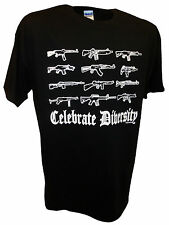 Pro Guns Firearms Nra Ak47 M16 Mg42 Colt Ar15 Stg44 Mp44 Military 9mm Ruger Tee