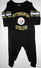 PITTSBURGH STEELERS INFANT L/S FOLDOVER NECK COVERALL