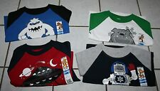 NEW Boys GARANIMALS Long Sleeve Screen Raglan Tee ~Var Colors~ Inf & Tod
