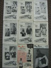 Your Choice VTG Mary Maxim Graph Knitting Pattern~Curling~Grizzly~Snowflake~Bull