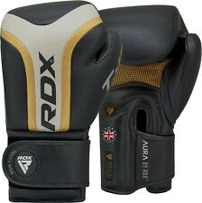 Auth RDX Gel Weight Lifting Body Building Gloves Gym Training Strap Leather Grip