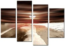 CANVAS WALL ART LARGE QUALITY ABSTRACT PRINTS CONTEMPORARY DIGITAL VENUS 3 BROWN