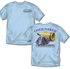 Coed Naked Cheerleading T-shirt (Blue) - Adult Sizes