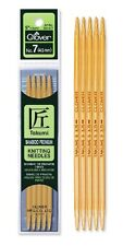 Clover  Takumi Bamboo Double Pointed Knitting Needles(5)    3014-15 CLEARANCE