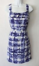 NWT Banana Republic Soft Patterned Dress 2 10 12 Square Neck Lined Fitted NEW